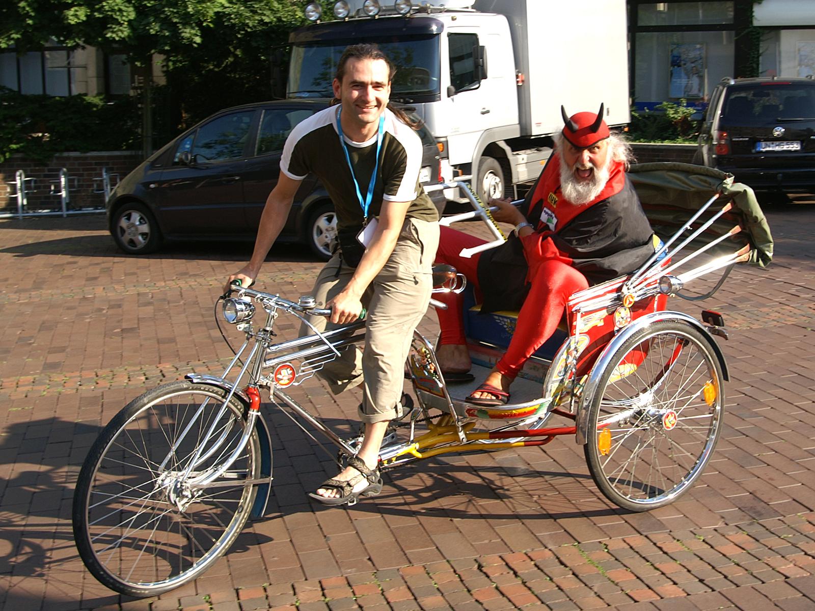 Mieten Sie diese Original-Fahrradrikscha!